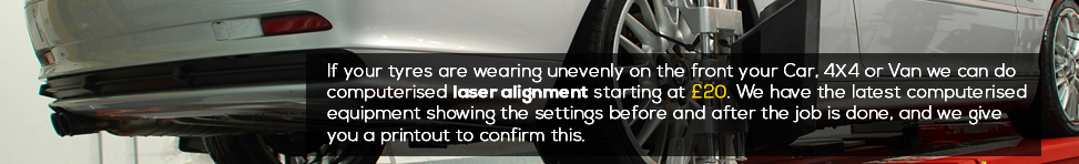 4 Wheel Laser Alignment (Tracking)