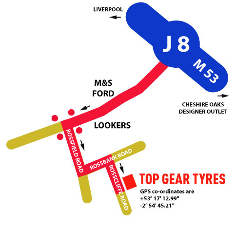 Top Gear Tyre Centre Ltd in Ellesmere Port - Map